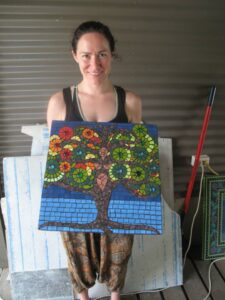 tree of life created in studio style mosaic classes with Brett Campbell