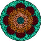 70's Flower Green mosaic design
