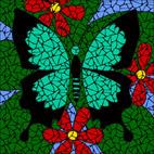Jade Butterfly mosaic design