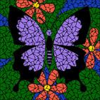 Purple Butterfly mosaic design