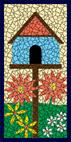 Birdhouse cream mosaic design