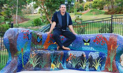 Brett Campbell Mosaics artist with artwork