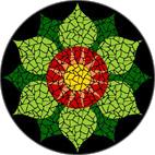 Heart Chakra mosaic design