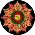 Sacral Chakra mosaic design