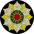 Solar Chakra mosaic design