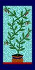 Chilli pot aqua mosaic design