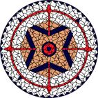 Dreamcatcher white mosaic design