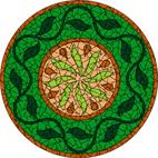 Forest green mosaic design