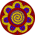 Funky spiral red mosaic design