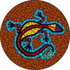 Goanna terracotta mosaic design