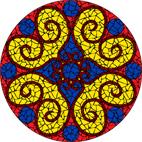 Hearts yellow mosaic design