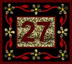House number black mosaic design