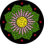 Lotus flower black mosaic design