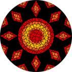 Ruby mosaic design