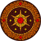 Star earthy mosaic design
