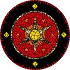 Star gold mosaic design