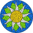 Sunflower bright mosaic design