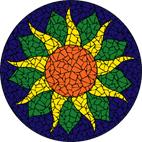 Sunflower strong mosaic design