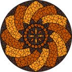 Moroccan swirl earthy mosaic design