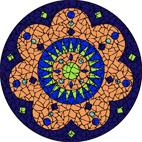 Turkey blue mosaic design