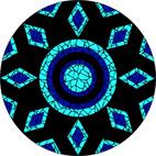 Turquoise mosaic design