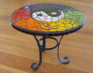 completed table mosaic tile kits