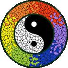 Yin & Yang Bright mosaic design