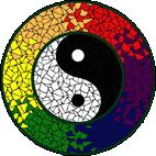 Yin & Yang Strong mosaic design
